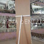 Matmazel Model Eskitme Beyaz Renk Ayaklı Boy Aynası-12