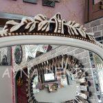 Matmazel Model Eskitme Beyaz Renk Ayaklı Boy Aynası-13