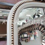 Matmazel Model Eskitme Beyaz Renk Ayaklı Boy Aynası-15