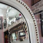 Matmazel Model Eskitme Beyaz Renk Ayaklı Boy Aynası-16