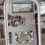 Matmazel Model Eskitme Beyaz Renk Ayaklı Boy Aynası-17