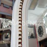 Matmazel Model Eskitme Beyaz Renk Ayaklı Boy Aynası-18