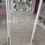 Matmazel Model Eskitme Beyaz Renk Ayaklı Boy Aynası-19
