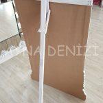 Matmazel Model Eskitme Beyaz Renk Ayaklı Boy Aynası-23