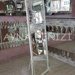 Matmazel Model Eskitme Beyaz Renk Ayaklı Boy Aynası-3