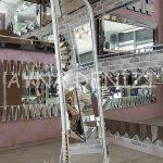 Matmazel Model Eskitme Beyaz Renk Ayaklı Boy Aynası-5
