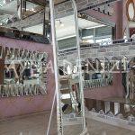 Matmazel Model Eskitme Beyaz Renk Ayaklı Boy Aynası-9