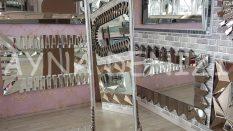 Matmazel Model Gümüş Renk Ayaklı Boy Aynası