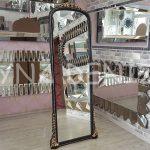 Matmazel Model Siyah Altın Renk Ayaklı Boy Aynası-1