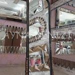 Matmazel Model Siyah Altın Renk Ayaklı Boy Aynası-10