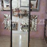 Matmazel Model Siyah Altın Renk Ayaklı Boy Aynası-12