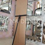 Matmazel Model Siyah Altın Renk Ayaklı Boy Aynası-13