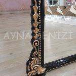 Matmazel Model Siyah Altın Renk Ayaklı Boy Aynası-16