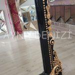 Matmazel Model Siyah Altın Renk Ayaklı Boy Aynası-17