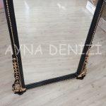 Matmazel Model Siyah Altın Renk Ayaklı Boy Aynası-18
