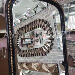 Matmazel Model Siyah Altın Renk Ayaklı Boy Aynası-19