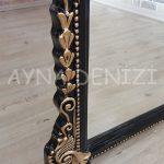 Matmazel Model Siyah Altın Renk Ayaklı Boy Aynası-23