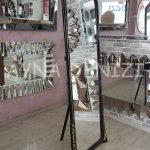 Matmazel Model Siyah Altın Renk Ayaklı Boy Aynası-5