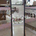 Matmazel Model Siyah Altın Renk Ayaklı Boy Aynası-7