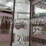 Matmazel Model Siyah Altın Renk Ayaklı Boy Aynası-8