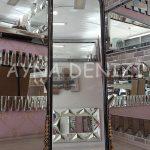 Matmazel Model Siyah Altın Renk Ayaklı Boy Aynası-9