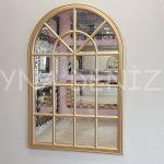 Milano Model Altın Renk Dekoratif Pencere Ayna-1