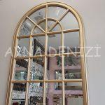 Milano Model Altın Renk Dekoratif Pencere Ayna-11