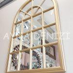 Milano Model Altın Renk Dekoratif Pencere Ayna-14