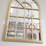 Milano Model Altın Renk Dekoratif Pencere Ayna-15