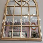 Milano Model Altın Renk Dekoratif Pencere Ayna-16