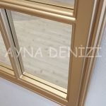 Milano Model Altın Renk Dekoratif Pencere Ayna-18