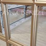 Milano Model Altın Renk Dekoratif Pencere Ayna-21