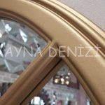 Milano Model Altın Renk Dekoratif Pencere Ayna-23