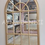 Milano Model Altın Renk Dekoratif Pencere Ayna-3