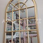Milano Model Altın Renk Dekoratif Pencere Ayna-7