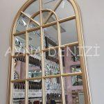 Milano Model Altın Renk Dekoratif Pencere Ayna-9