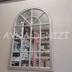 Milano Model Gümüş Renk Dekoratif Pencere Ayna-10