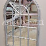 Milano Model Gümüş Renk Dekoratif Pencere Ayna-11