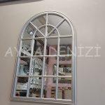 Milano Model Gümüş Renk Dekoratif Pencere Ayna-12