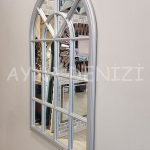 Milano Model Gümüş Renk Dekoratif Pencere Ayna-13