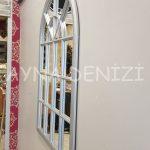 Milano Model Gümüş Renk Dekoratif Pencere Ayna-14