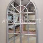Milano Model Gümüş Renk Dekoratif Pencere Ayna-17