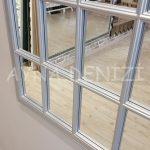 Milano Model Gümüş Renk Dekoratif Pencere Ayna-22