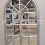Milano Model Gümüş Renk Dekoratif Pencere Ayna-3