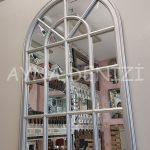 Milano Model Gümüş Renk Dekoratif Pencere Ayna-4