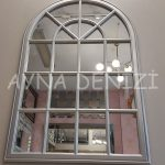Milano Model Gümüş Renk Dekoratif Pencere Ayna-5