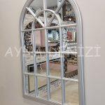 Milano Model Gümüş Renk Dekoratif Pencere Ayna-6