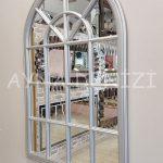 Milano Model Gümüş Renk Dekoratif Pencere Ayna-7
