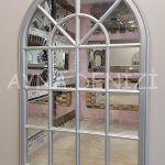Milano Model Gümüş Renk Dekoratif Pencere Ayna-8