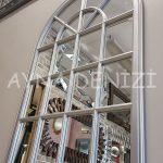 Milano Model Gümüş Renk Dekoratif Pencere Ayna-9